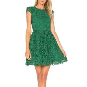 Alice + Olivia Joyce Party Dress Green Floral